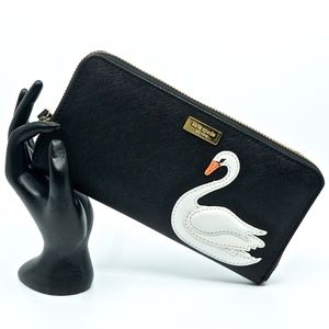 KATE SPADE~swan around~CONTINENTAL CLUTCH WALLET